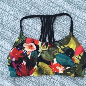 Tropical sports bra